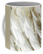White Feathers With Gold Coffee Mug