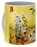 White Floral Collage II Coffee Mug