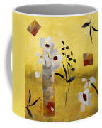 White Floral Collage Coffee Mug