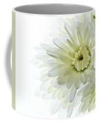 White Floral Coffee Mug