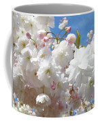 White Floral Tree Flower Blossoms Art Baslee Troutman Coffee Mug