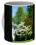 White Flowering Tree Coffee Mug