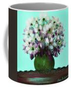 White Flowers In A Vase Coffee Mug