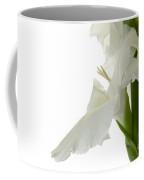 White Gladiola Coffee Mug