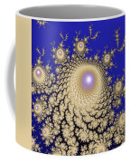 White Gold Opalescent Fractal Swirl Abstraction Coffee Mug