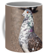 White-gray Pigeon Profile Coffee Mug