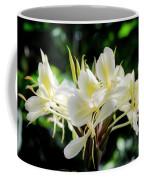 White Hawaiian Flowers Coffee Mug