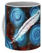 White Hawk Feather Coffee Mug