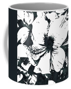 White Hibiscus- Art By Linda Woods Coffee Mug