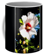 White Hibiscus High Above In Shadows Coffee Mug