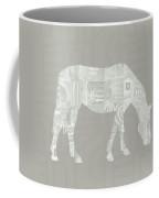 White Horse 2- Art By Linda Woods Coffee Mug