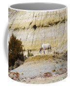 White Horse On A Mound Coffee Mug
