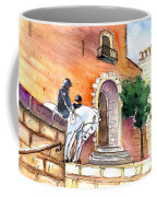 White Horses By The Cathedral In Palma De Mallorca 02 Coffee Mug