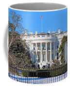 White House South Lawn With Snow Coffee Mug