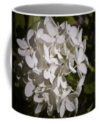 White Hydrangea Bloom Coffee Mug
