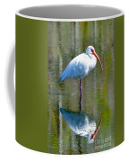 White Ibis And Reflection Coffee Mug