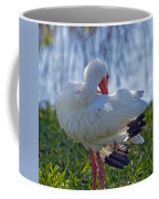 White Ibis Dries Off Coffee Mug