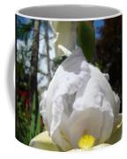 White Iris Flower Art Prints Canvas Irises Artwork Coffee Mug