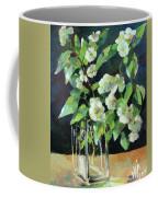 White Jasmine In A Ikea Bowl Coffee Mug