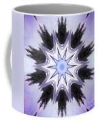 White-lilac-black Flower. Digital Art Coffee Mug