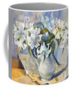 White Lilies In White Jug Coffee Mug