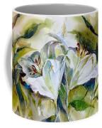 White Lilies Coffee Mug