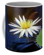 White Lily On Pond Coffee Mug