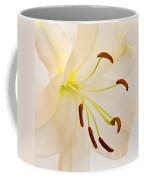 White Lily Square Version Coffee Mug