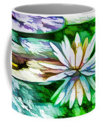 White Lotus In The Pond Coffee Mug