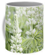 White Lupines Coffee Mug