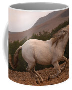 White Mare Gallops #1 -  Close Up Brighter Coffee Mug