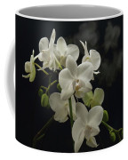 White Orchid And Reflection Coffee Mug