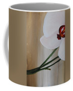 White Orchid Light Background First Section Coffee Mug