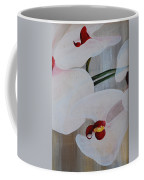 White Orchid Light Background Middle Section Coffee Mug
