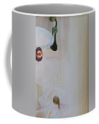 White Orchid Light Background Third Section Coffee Mug