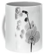 White Orchid On White Bw Coffee Mug