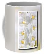 White Orchids Framed Coffee Mug