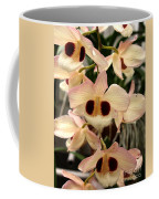 White Orchids With A Hint Of Pink Coffee Mug