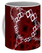White Over Red Coffee Mug
