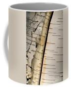 White Paper Birch Tree Bark Coffee Mug