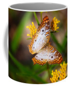 White Peacock Butterfly Coffee Mug