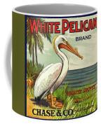 White Pelican Fruit Crate Label C. 1920 Coffee Mug
