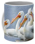 White Pelicans At Nelson Lake Coffee Mug
