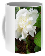 White Peonia Coffee Mug