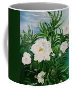 White Peonies Coffee Mug