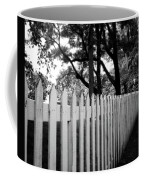 White Picket Fence- By Linda Woods Coffee Mug