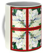 White Poinsettia Quartet Coffee Mug