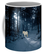 Spirit Pony In A Blue Wood Coffee Mug