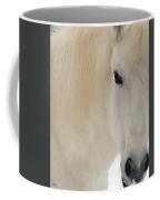White Pony In Profile Coffee Mug