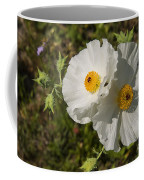 White Poppy Twins Coffee Mug